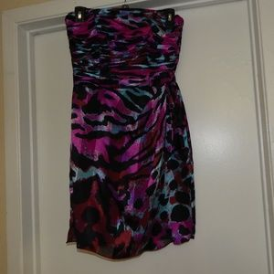 Cache Size 4 Strapless Silk Dress Pre-owned